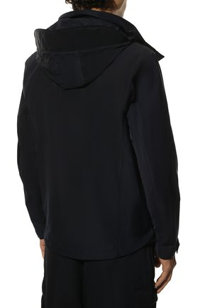 Мужская утепленная куртка BURBERRY синего цвета, арт. 8014364 | Фото 4 (Кросс-КТ: Куртка; Рукава: Длинные; Материал внешний: Синтетический материал; Мужское Кросс-КТ: утепленные куртки; Материал подклада: Синтетический материал; Длина (верхняя одежда): Короткие; Стили: Кэжуэл)