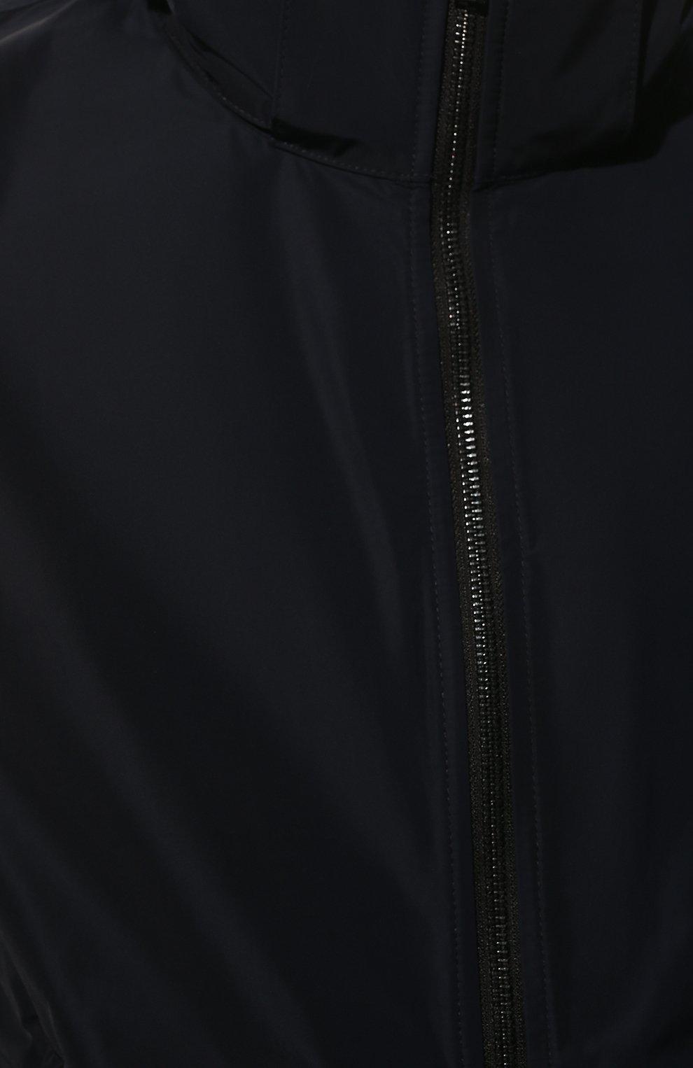 Мужская утепленная куртка BURBERRY синего цвета, арт. 8014364 | Фото 5 (Кросс-КТ: Куртка; Рукава: Длинные; Материал внешний: Синтетический материал; Мужское Кросс-КТ: утепленные куртки; Материал подклада: Синтетический материал; Длина (верхняя одежда): Короткие; Стили: Кэжуэл)
