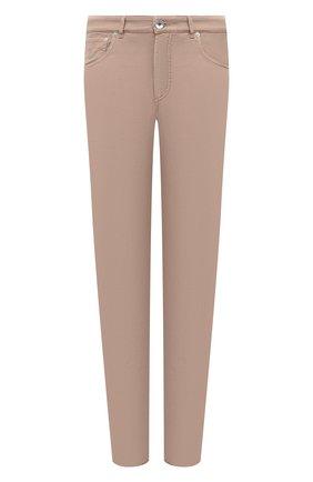 Мужские хлопковые брюки BRUNELLO CUCINELLI коричневого цвета, арт. M274DB1780 | Фото 1