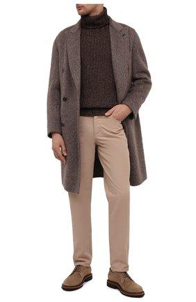 Мужские хлопковые брюки BRUNELLO CUCINELLI коричневого цвета, арт. M274DB1780 | Фото 2