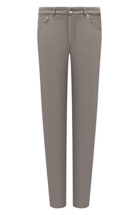 Мужские хлопковые брюки BRUNELLO CUCINELLI хаки цвета, арт. M274DB1780 | Фото 1