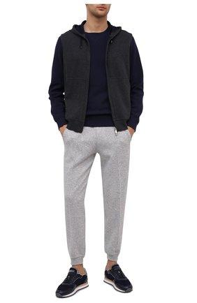 Мужской хлопковый жилет BRUNELLO CUCINELLI темно-серого цвета, арт. M0T319079G | Фото 2