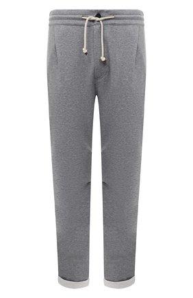 Мужской хлопковые брюки BRUNELLO CUCINELLI серого цвета, арт. M0T313353G | Фото 1