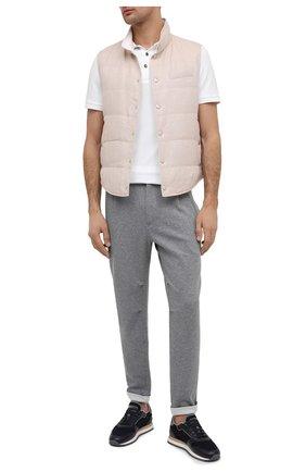 Мужской хлопковые брюки BRUNELLO CUCINELLI серого цвета, арт. M0T313353G | Фото 2