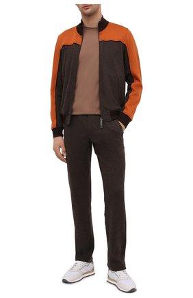 Мужской спортивный костюм из хлопка и кашемира ZILLI SPORT коричневого цвета, арт. MBU-ZSJ03-C0WSP/ML01 | Фото 1