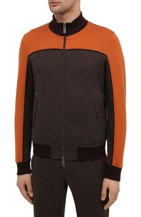 Мужской спортивный костюм из хлопка и кашемира ZILLI SPORT коричневого цвета, арт. MBU-ZSJ03-C0WSP/ML01 | Фото 2