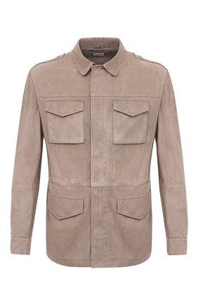 Мужская замшевая куртка BRUNELLO CUCINELLI бежевого цвета, арт. MPCLN1723 | Фото 1