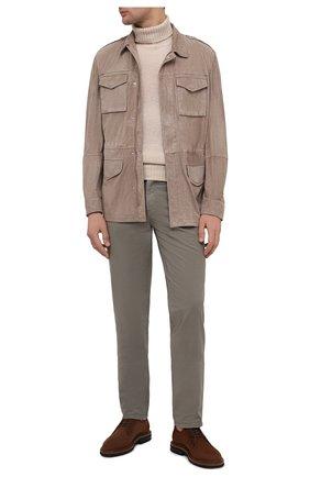 Мужская замшевая куртка BRUNELLO CUCINELLI бежевого цвета, арт. MPCLN1723 | Фото 2