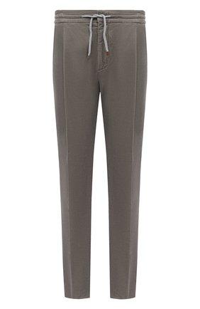 Мужской хлопковые брюки BRUNELLO CUCINELLI хаки цвета, арт. M279DE1740 | Фото 1