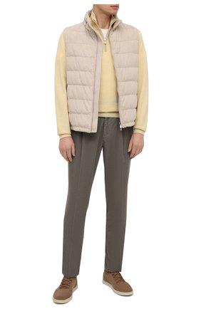 Мужской хлопковые брюки BRUNELLO CUCINELLI хаки цвета, арт. M279DE1740 | Фото 2