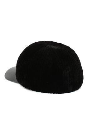 Мужской бейсболка из меха норки KUSSENKOVV черного цвета, арт. 381528502140 | Фото 2