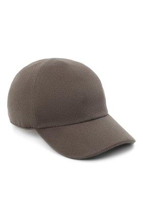 Мужской шерстяная бейсболка LORO PIANA серого цвета, арт. FAL4499/VVIC | Фото 1