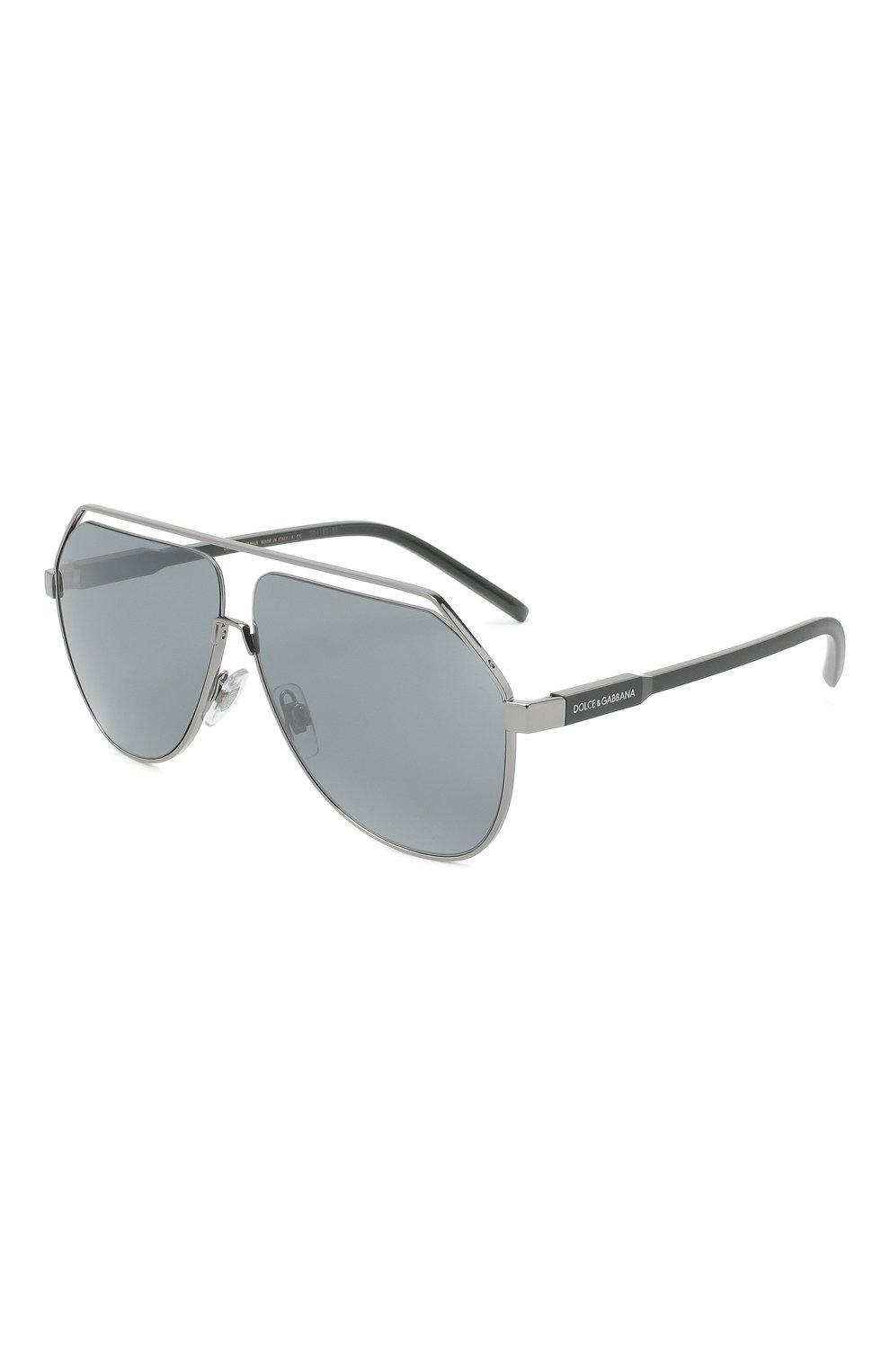Мужские солнцезащитные очки DOLCE & GABBANA серебряного цвета, арт. 2266-04/6G | Фото 1