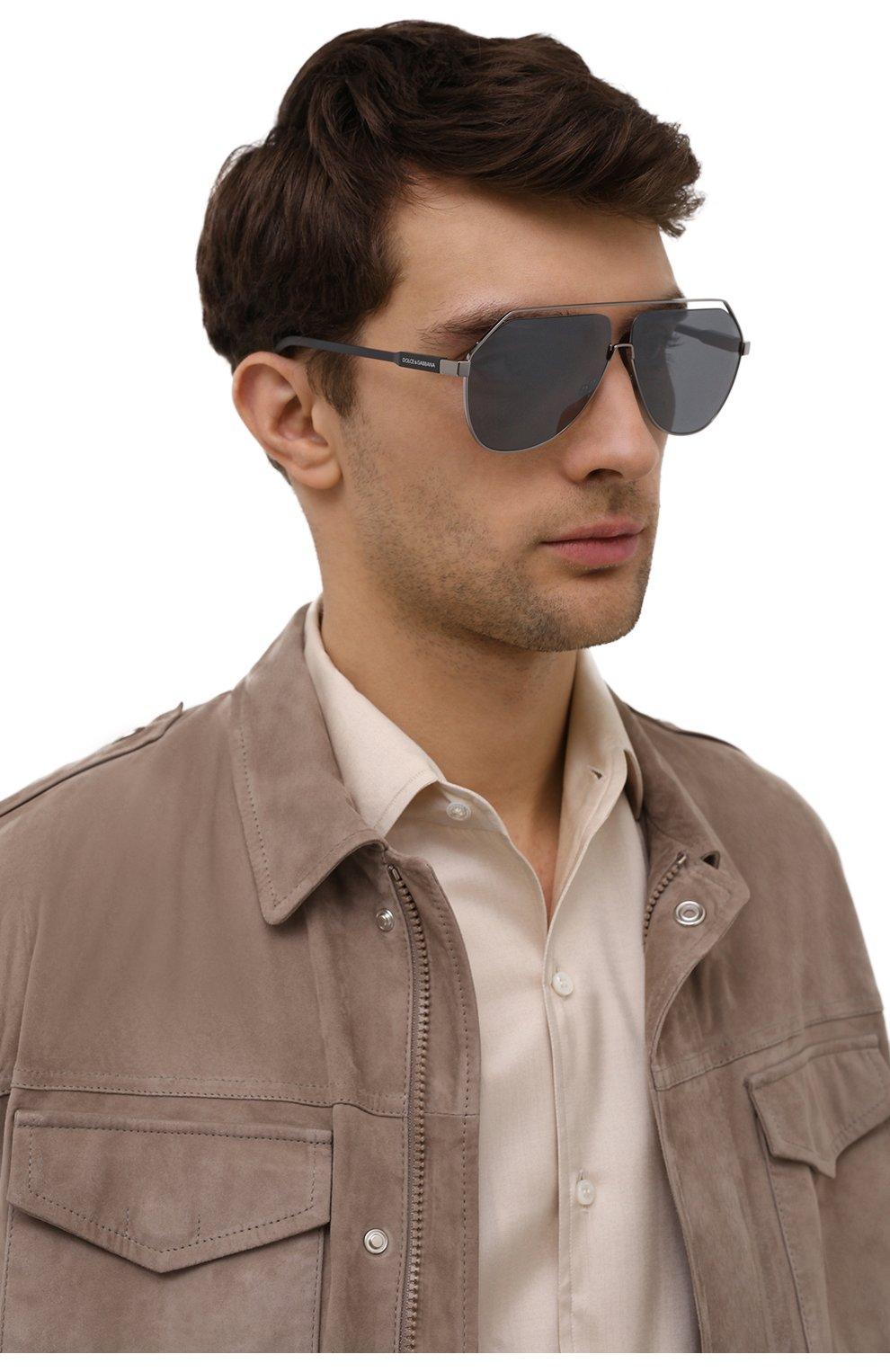 Мужские солнцезащитные очки DOLCE & GABBANA серебряного цвета, арт. 2266-04/6G | Фото 2