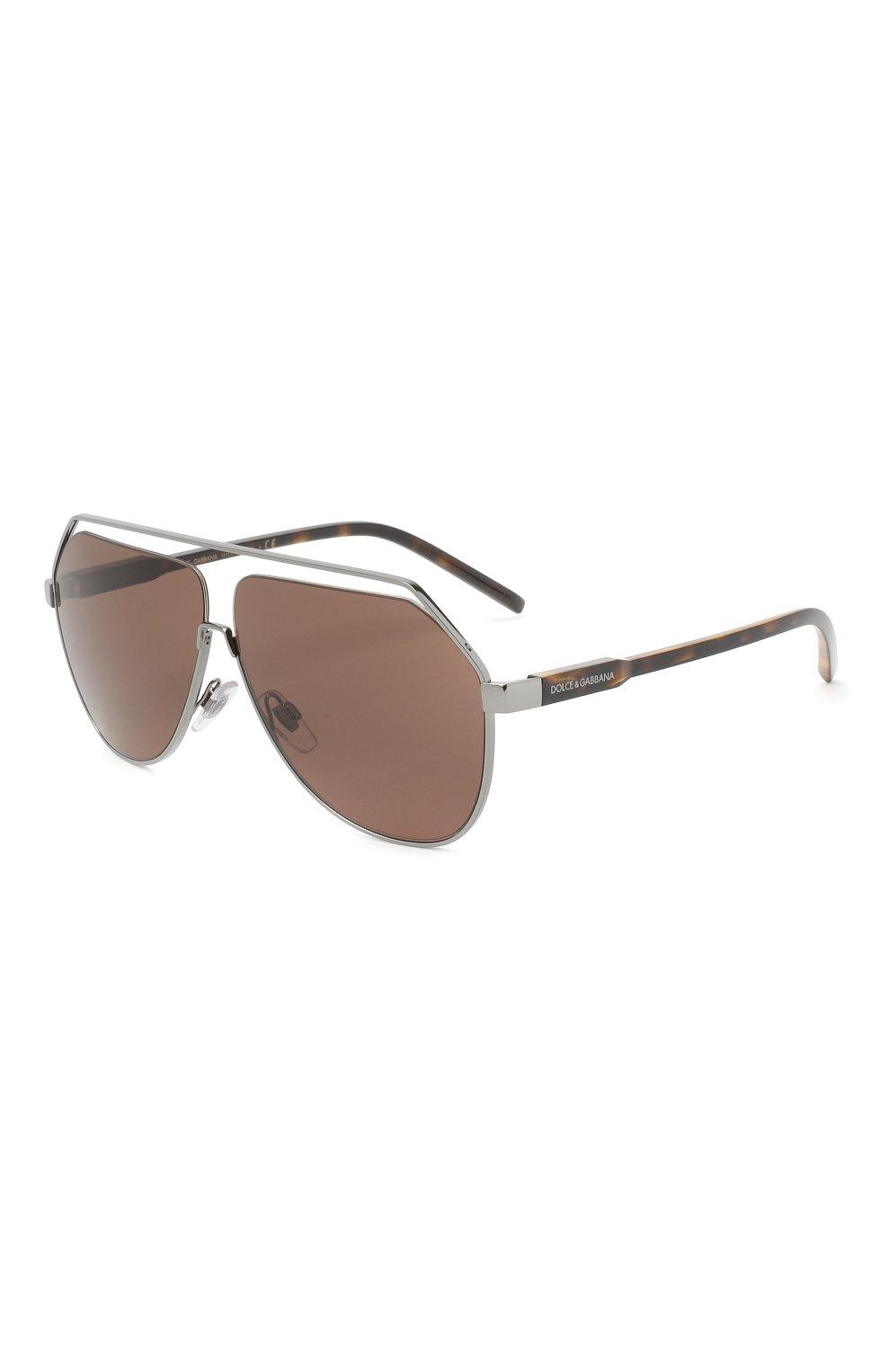 Мужские солнцезащитные очки DOLCE & GABBANA коричневого цвета, арт. 2266-04/73 | Фото 1