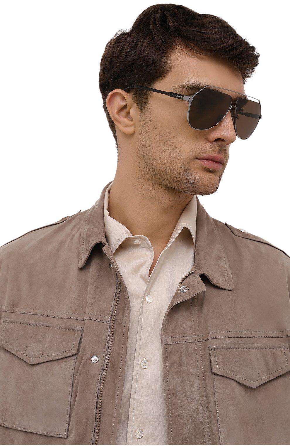 Мужские солнцезащитные очки DOLCE & GABBANA коричневого цвета, арт. 2266-04/73 | Фото 2