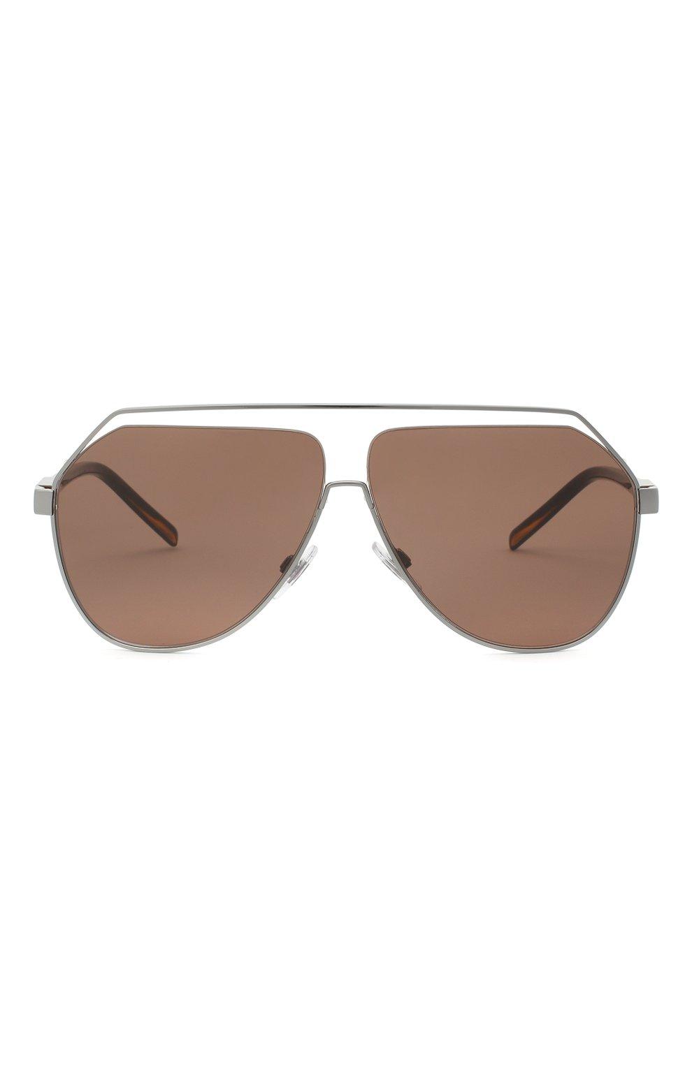 Мужские солнцезащитные очки DOLCE & GABBANA коричневого цвета, арт. 2266-04/73 | Фото 3