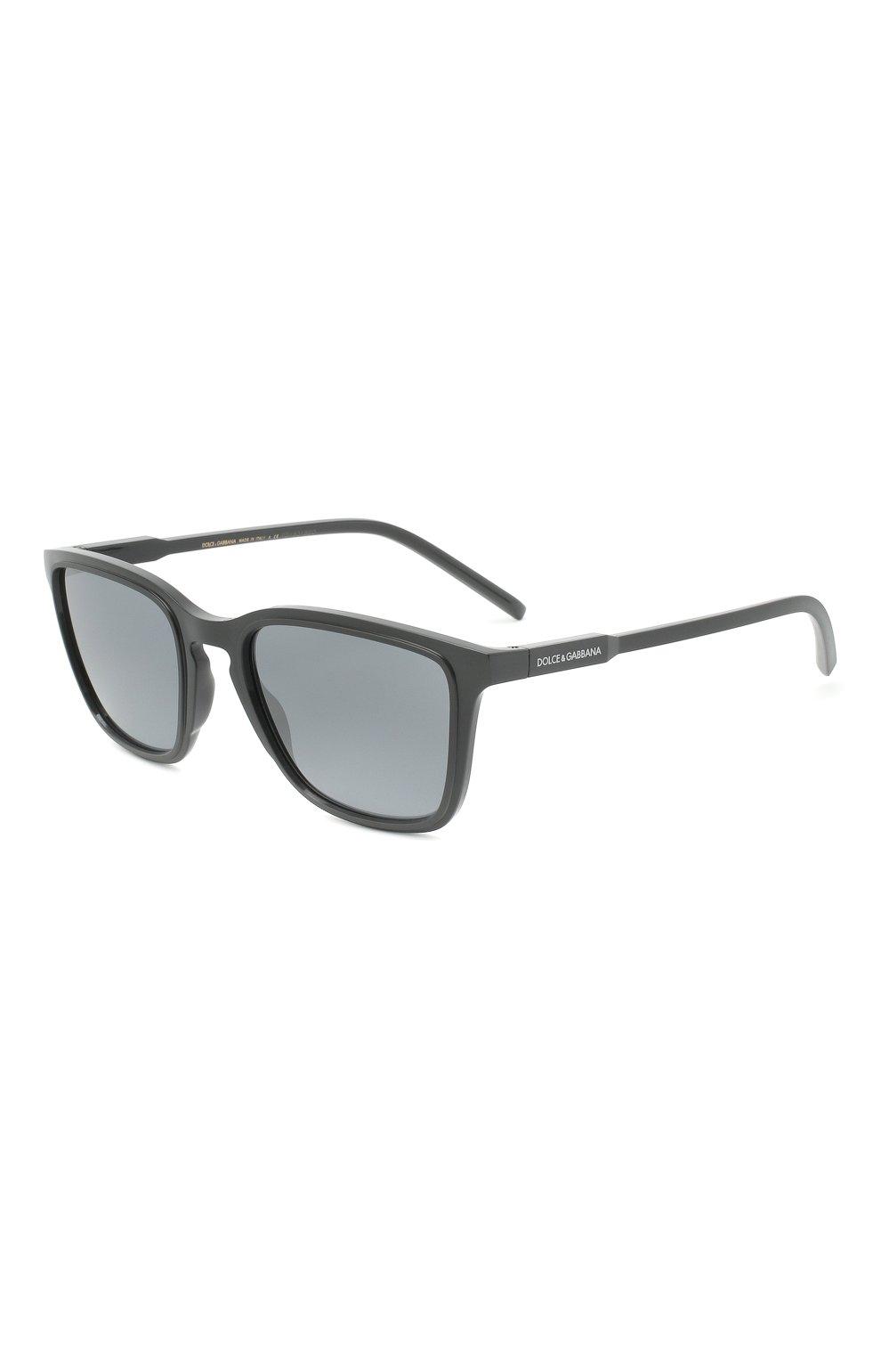 Мужские солнцезащитные очки DOLCE & GABBANA серого цвета, арт. 6145-32936G | Фото 1