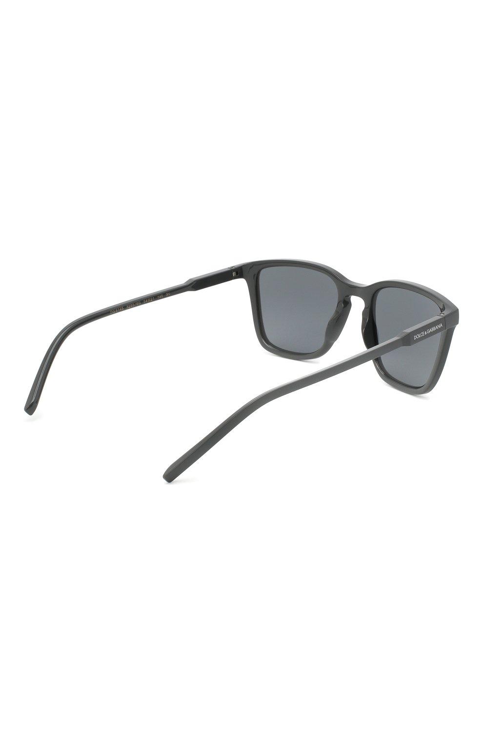 Мужские солнцезащитные очки DOLCE & GABBANA серого цвета, арт. 6145-32936G | Фото 4
