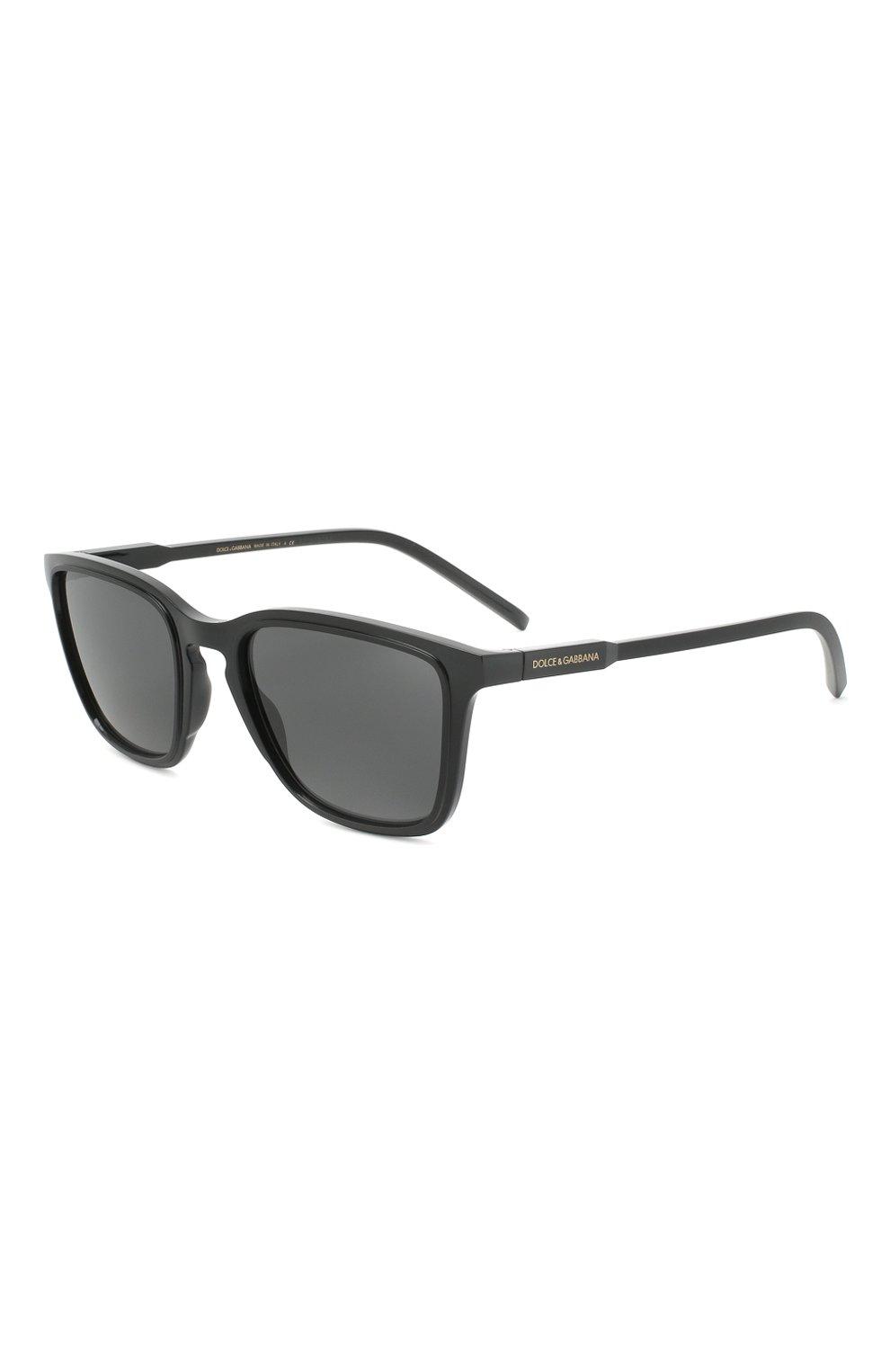 Мужские солнцезащитные очки DOLCE & GABBANA черного цвета, арт. 6145-501/87 | Фото 1