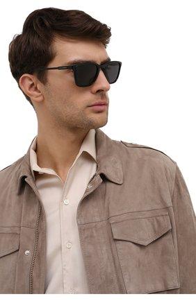 Мужские солнцезащитные очки DOLCE & GABBANA черного цвета, арт. 6145-501/87 | Фото 2