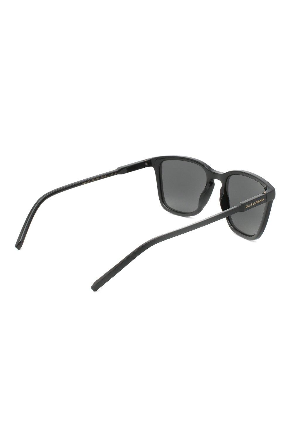 Мужские солнцезащитные очки DOLCE & GABBANA черного цвета, арт. 6145-501/87 | Фото 4