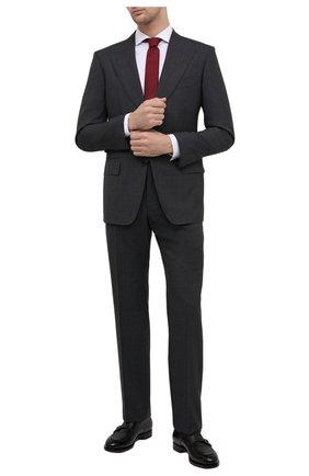 Мужской шерстяной костюм TOM FORD серого цвета, арт. Q11R01/21AL43 | Фото 1