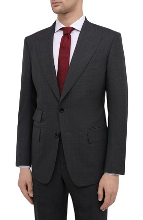 Мужской шерстяной костюм TOM FORD серого цвета, арт. Q11R01/21AL43 | Фото 2