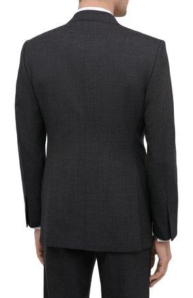 Мужской шерстяной костюм TOM FORD серого цвета, арт. Q11R01/21AL43 | Фото 3