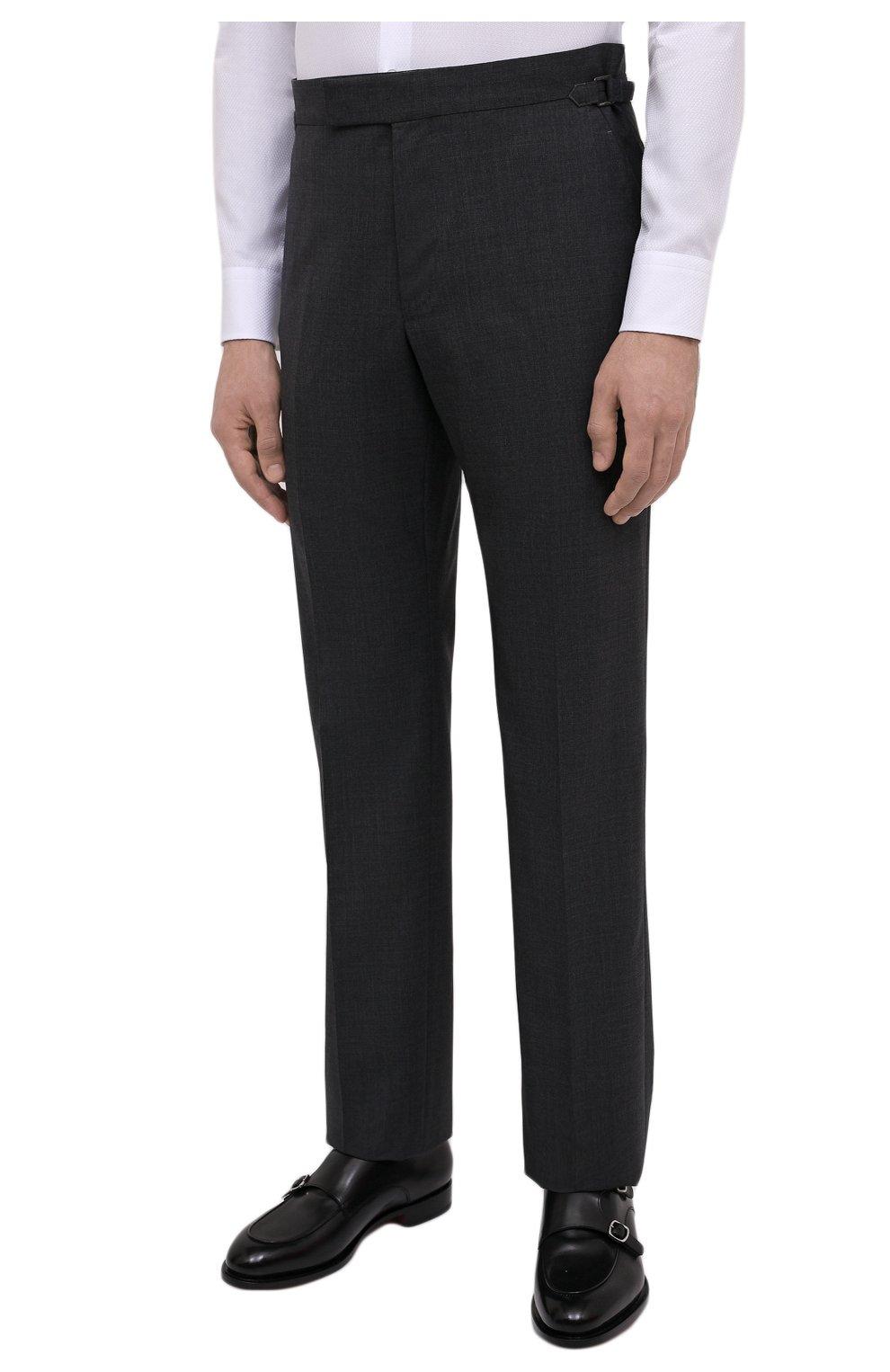 Мужской шерстяной костюм TOM FORD серого цвета, арт. Q11R01/21AL43 | Фото 4