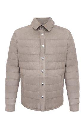 Мужская пуховая куртка BRUNELLO CUCINELLI бежевого цвета, арт. M0PCL1778 | Фото 1