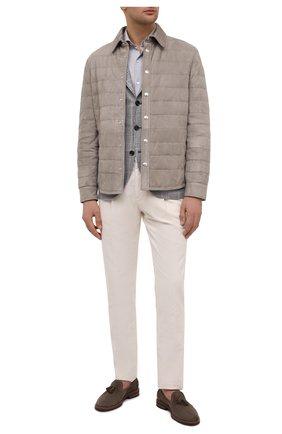 Мужская пуховая куртка BRUNELLO CUCINELLI бежевого цвета, арт. M0PCL1778 | Фото 2