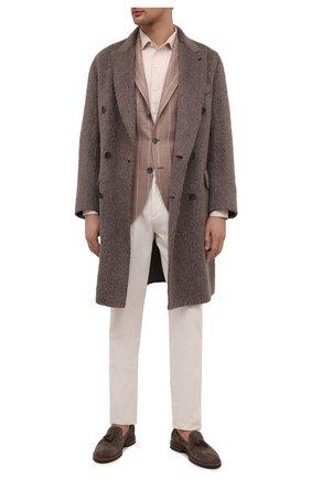Мужской пиджак изо льна и шерсти BRUNELLO CUCINELLI бежевого цвета, арт. MD4927BND | Фото 2