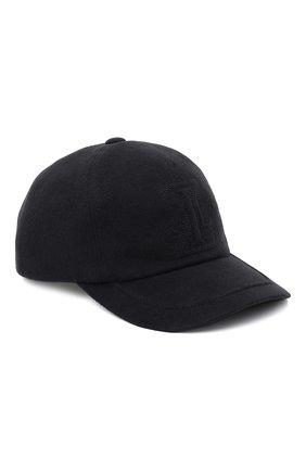 Мужской бейсболка из шелка и шерсти ZILLI черного цвета, арт. MHU-CAP04-30345/0001 | Фото 1