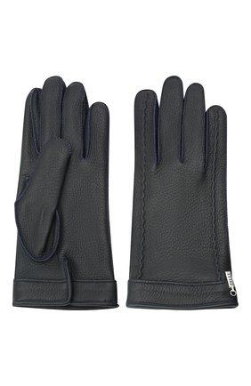 Мужские кожаные перчатки ZILLI темно-синего цвета, арт. MIU-GA149-CERWS/0001 | Фото 2