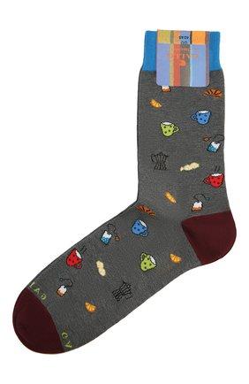 Мужские носки GALLO серого цвета, арт. AP510669 | Фото 1