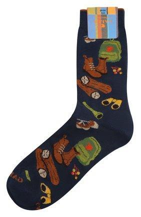 Мужские хлопковые носки GALLO темно-синего цвета, арт. AP510625 | Фото 1
