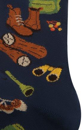 Мужские хлопковые носки GALLO темно-синего цвета, арт. AP510625 | Фото 2