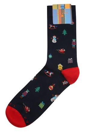 Мужские хлопковые носки GALLO темно-синего цвета, арт. AP510622 | Фото 1