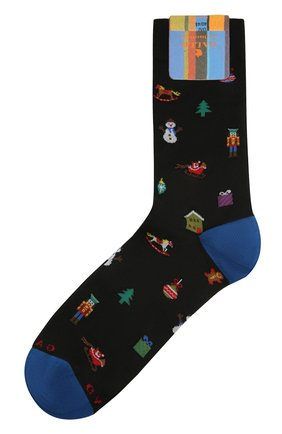 Мужские хлопковые носки GALLO черного цвета, арт. AP510622 | Фото 1