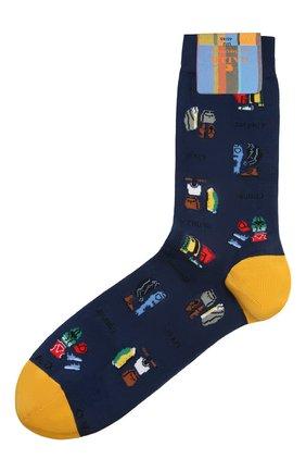 Мужские носки GALLO синего цвета, арт. AP510612 | Фото 1