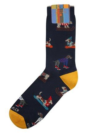 Мужские хлопковые носки GALLO темно-синего цвета, арт. AP510609 | Фото 1