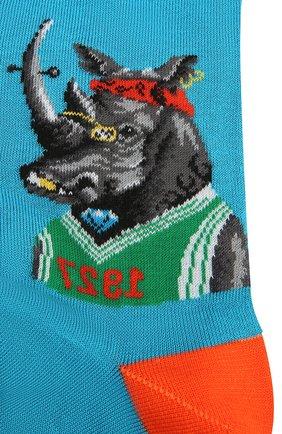 Мужские хлопковые носки GALLO бирюзового цвета, арт. AP510237 | Фото 2