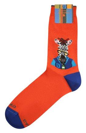 Мужские хлопковые носки GALLO оранжевого цвета, арт. AP510235 | Фото 1
