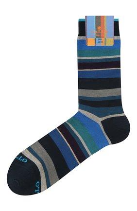 Мужские хлопковые носки GALLO темно-синего цвета, арт. AP103480 | Фото 1