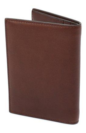 Мужская кожаная обложка для паспорта BRUNELLO CUCINELLI коричневого цвета, арт. MWSBU371 | Фото 2