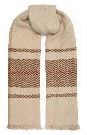 Мужской кашемировый шарф LORO PIANA бежевого цвета, арт. FAL3958 | Фото 1
