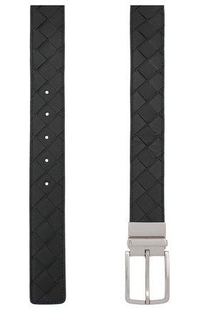 Мужской кожаный ремень BOTTEGA VENETA черного цвета, арт. 652944/VCPQ1 | Фото 2