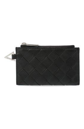 Мужской кожаный футляр для кредитных карт BOTTEGA VENETA черного цвета, арт. 650529/VCPQ3 | Фото 1