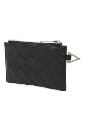 Мужской кожаный футляр для кредитных карт BOTTEGA VENETA черного цвета, арт. 650529/VCPQ3 | Фото 2